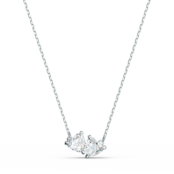 Attract Soul Necklace, White, Rhodium plated