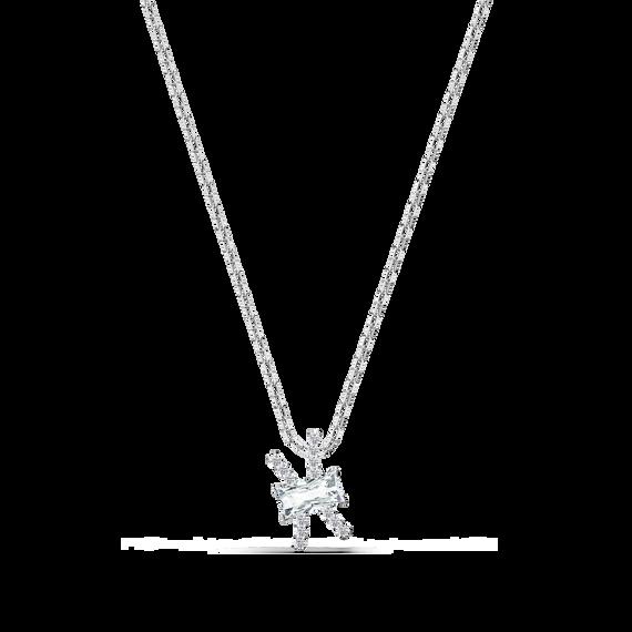Zodiac II Pendant, Pisces, White, Mixed metal finish