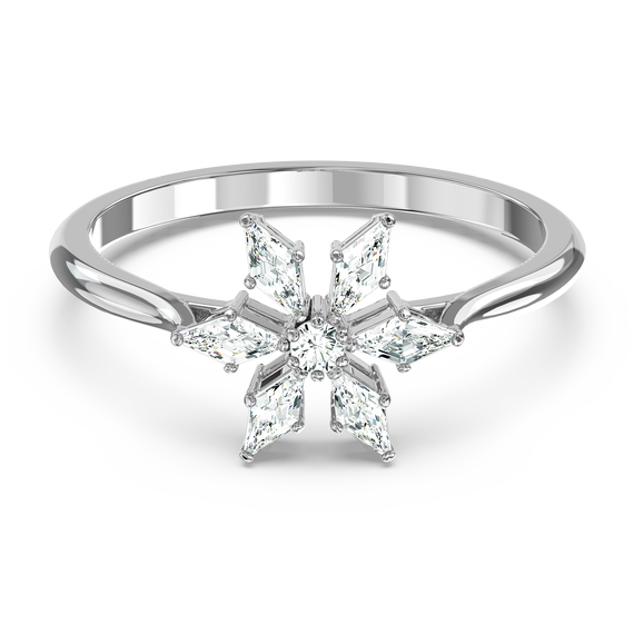 Magic Ring, White, Rhodium plated