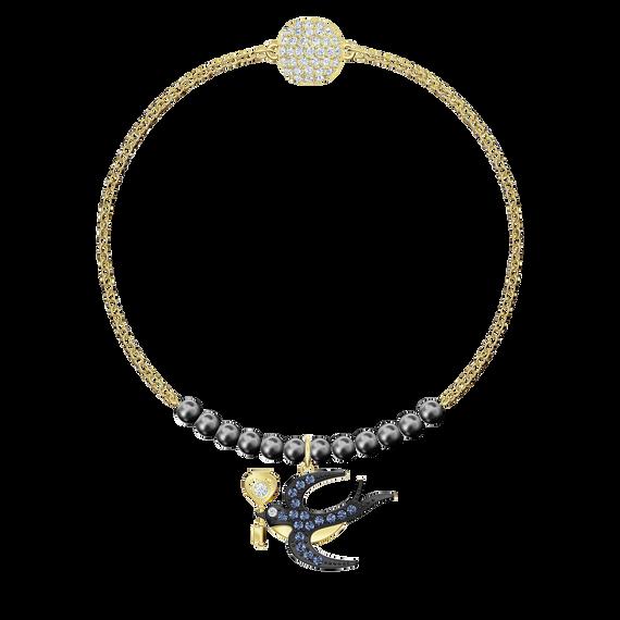 Swarovski Remix Collection Swallow Strand, Multi-colored, Gold-tone plated