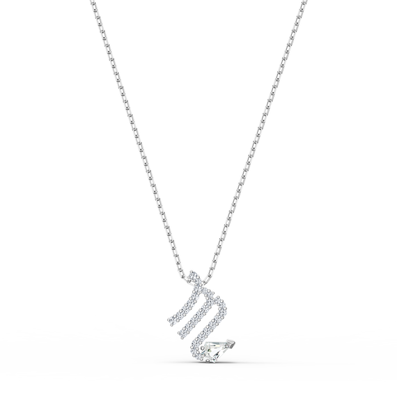 Zodiac II Pendant, Scorpio, White, Mixed metal finish