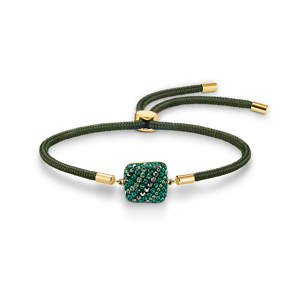Swarovski Power Collection Earth Element Bracelet, Green, Gold-tone plated