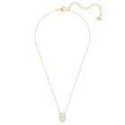 Sparkling Dance Necklace, Green, Gold-tone plated