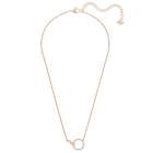 Swarovski Symbolic Necklace, White, Rose-gold tone plated