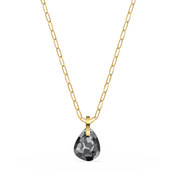 T Bar Pendant, Grey, Gold-tone plated