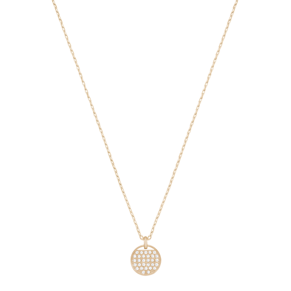 Ginger Pendant, White, Rose Gold Plated