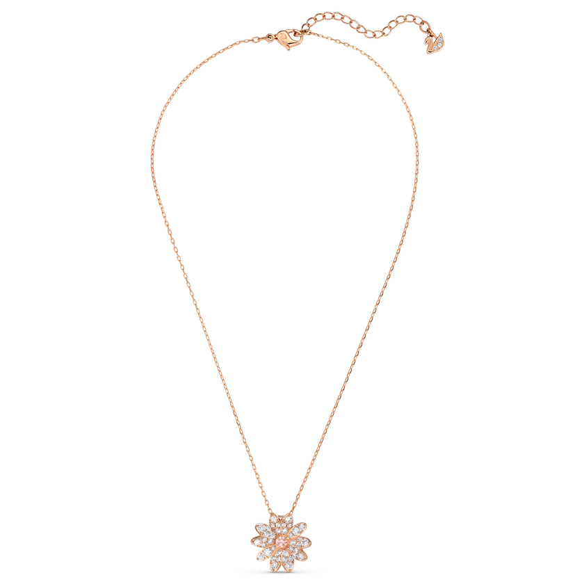 Eternal Flower Pendant, Pink, Rose-gold tone plated