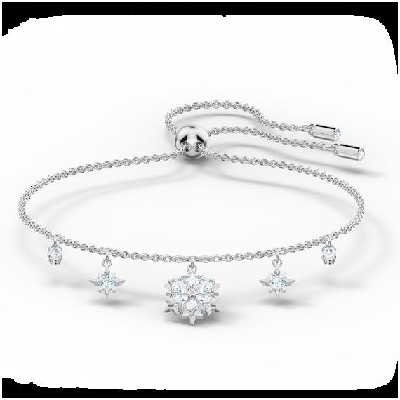 Magic Bracelet, White, Rhodium plated