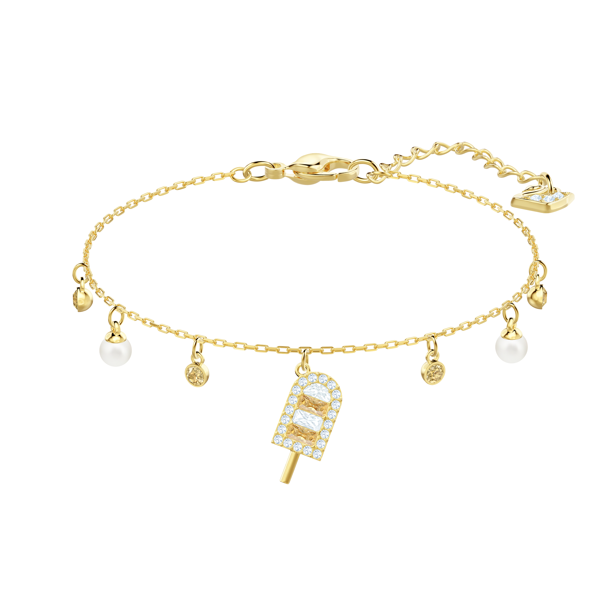No Regrets Ice Cream Bracelet, Multi-colored, Gold plating